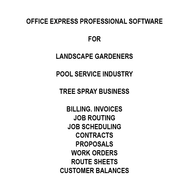 Landscape, Gardening, Pool Service Software